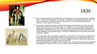 Basic powerpoint presentation of the life and reign of William 4th