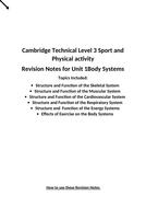 Cambridge Technical Sport Level 3 Unit 1 revision booklet