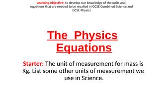GCSE-Physics-SI-Units-and-Equations-Slides.pptx