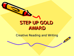 AQA STEP UP to ENGLISH - Creative Reading and Writing Component 2 Scheme of work
