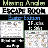 Solving for Missing Angles Game: Geometry Escape Room ...