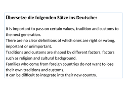 Definition Weihnachten.New A Level German Die Rolle Von Festen Und Traditionen