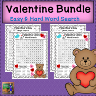 Valentine's Day Word Searches - Easy and Hard