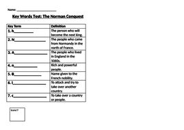 Norman-Conquest--Key-Words-Test-(SEN).docx