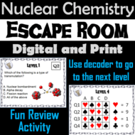 Nuclear Chemistry Activity: Chemistry Escape Room - Science