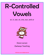 R Controlled Vowels Worksheets & Activites, ar, er, ir, or, ur, are, ear, ore