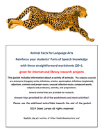 Animal Facts to Reinforce Parts of Speech
