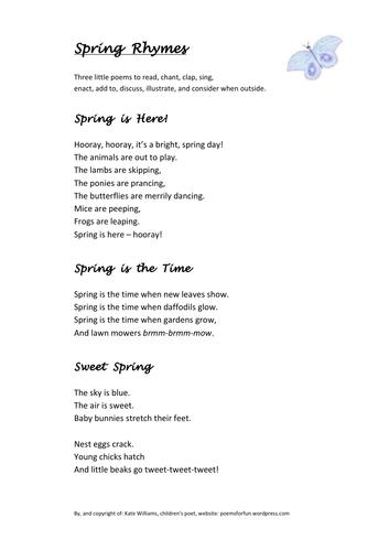 3 Spring Rhymes