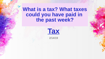 Indirect Taxation, Whole Topic including PPT and Activities: A Level Economics, A Level Business