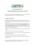 EAL good practice for settling new pupils