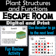 Parts of a Plant: Structures and Function: Biology Escape Room - Science