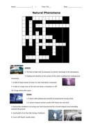 Natural Phenomena Crossword