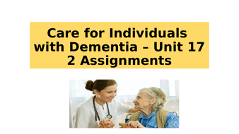 L3 Extended Diploma in Health and Social Care - Caring for individuals with Dementia