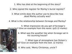 A Christmas Carol Comprehension Questions