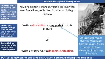 Creative descriptive writing_ Train wreck_question 5 paper 1 GCSE