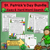 St. Patrick's Day Word Searches - Easy and Hard