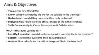 What was life life in the treches during the First World War?