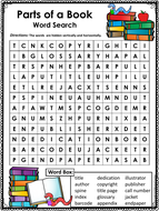Parts of a Book Word Searches - Easy and Hard