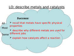 properties of metals and metal catalysts