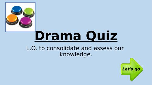 KS3/4 Interactive Drama Quiz