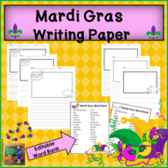 Mardi Gras Writing Paper Pack