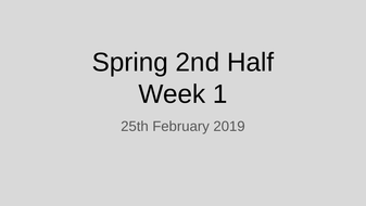 Year 6 - Early Morning Work (Spelling, Grammar, Maths) - Spring 2nd Half