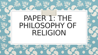 Edexcel RS Philosophical Arguments and Perspectives bundle