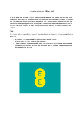 BTEC Level 3 Business: Unit 5 International Business - Impact of Cultural Factors