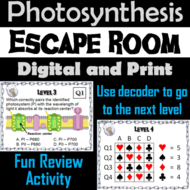 Photosynthesis Activity: AP Biology Escape Room Science