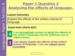 AQA English Language Paper 1 Practice GCSE paper: The Book Thief plus Q2 and Q4 lesson
