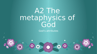 AQA Philosophy - attributes of God - whole topic