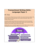 Transactional Writing Skills Booklet