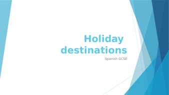 Spanish GCSE holidays & comparisons
