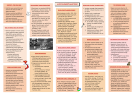 Edexcel GCSE 9-1 History: Paper 3 Vietnam War A3 summary sheets
