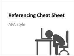 Referencing Cheat Sheet (APA Style)