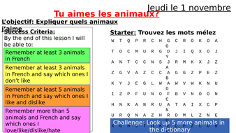 French Animals and Opinions