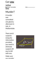 Murder Mystery - Data Handling with solutions