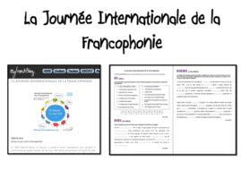 Francophonie- La Journée Internationale de la francophonie- Worksheet- Advanced