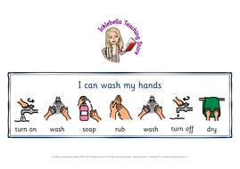 I can wash my hands sequence support