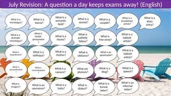 A Question A Day... July (English revision)