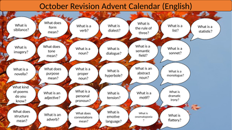 A Question A Day... October (English revision)