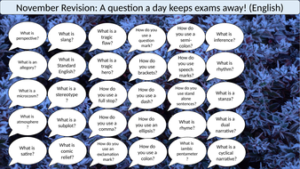 A Question A Day... November (English revision)