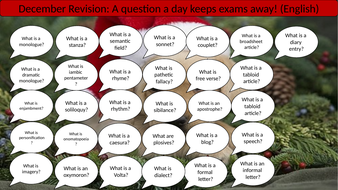 A Question A Day... December (English revision)