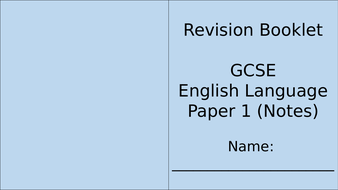Revision Booklets (A6 when printed and folded)