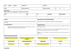 Secondary School Discuss Lesson Plan with Progressions, Technique, Assessment.docx