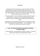 AQA 8145 - Elizabeth: Why did the Spanish Armada fail? (L4 historic environment)
