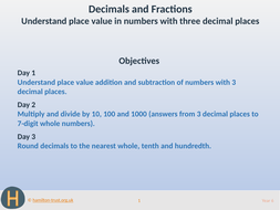 Place value in 3-place decimals - Teaching Presentation - Year 6