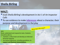 An Inspector Calls year 11 character revision