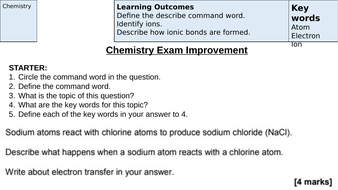 Ionic Bonding Revision (AQA New Specification 1-9)