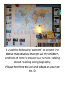 Superhero Map Display - Reading and Geography awesomely!